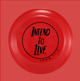 Intend to Live Frisbee - Red